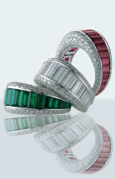ALLEGRO COLLECTION  The use of the most classic materials like emerald, ruby, blue sapphire and white diamond characterizes Allegro