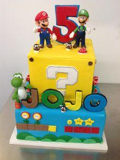 Mario and Luigi Video Game Cake