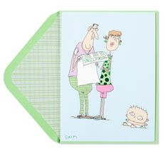 Couple with Baby Instructions Cartoon Price $1.98