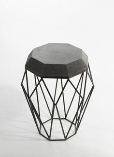 Beistelltische - Octa - Beistelltisch aus Beton mit Stahlgestell - ein Designerstück von Concrete-Jungle-Betonmanufaktur bei DaWanda