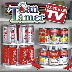 Organizador de Latas - Refrigerante / Suco / Cerveja :: Organizer Cans - Soda / Juice / Beer.