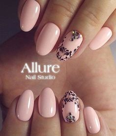 Oval + Nude + Arabesque + Glitters