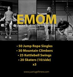Emom Workout, Insanity Workout, Best Cardio Workout, Gym Workouts, At Home Workouts, Jump Rope Workout, Morning Workouts, Workout Fitness, Circuit Kettlebell