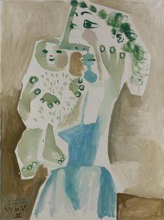 Pablo Picasso. Mère et enfant. 1965 year
