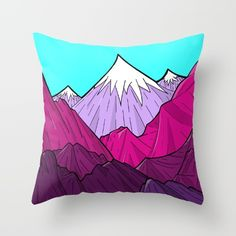 The Purple Mounts by Steve Wade ( Swade) @society6 #society6 #products #design #shop #shopping #buy #sale #fun #gift #idea #accessory #accessories #home #decor #style #fashion #art #digital #contemporary #cool #hip #awesome #awesomeness #chic #fashion #style #mountains #color #purple #blue #white #nature #illustration #drawing #pink #red #throw #pillow