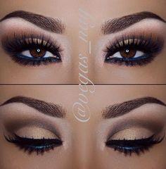 Dark Blue liner always enhance brown eyes  ❤ ℒℴvℯ this makeup !!!