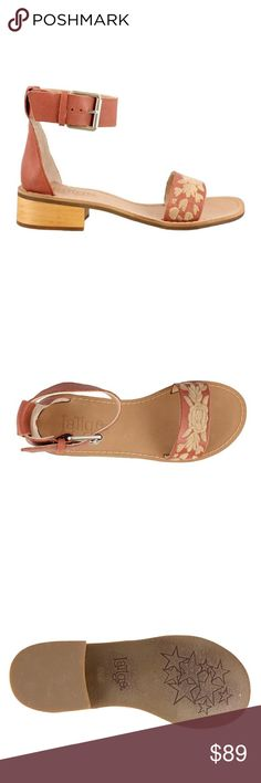 Latigo Tana Sandal in Brick Latigo Leather Tana Sandal in Brick   A wide buckle strap punctuates this minimalist sandal!  Leather upper   Synthetic lining and sole  Adjustable ankle strap with buckle closure.  1 inch heel Latigo  Shoes Sandals
