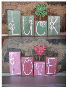 SAWDUST SANITY: Valentine and St. Patrick Crafts
