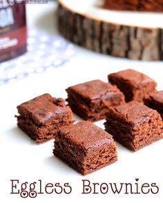 Eggless Brownie Recipe With Yogurt.Homemade Eggless Chocolate Brownies My Food Story. Brownie Recipe With Cocoa Powder And Sweetened Condensed . Eggless Brownie Recipe, Eggless Desserts, Eggless Recipes, Eggless Baking, Yogurt Recipes, Brownie Recipes, Baking Recipes, Dessert Recipes, Cake Recipes