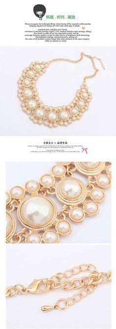 Teen Beige Pearl Decorated Simple Design Alloy Jewelry Sets ,Jewelry Sets  http://earrings.asumall.com/