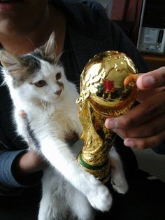 Hanzell and his first FIFA world cup!