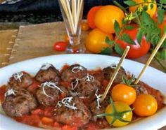 Asian Pork Balls with Fresh Plum Sauce and Coconut | Carefree Cooking Magazine