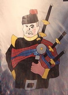 Scottish bagpiper - BME