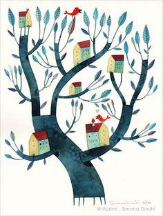 Pinzellades al món: Arbres i vida / Árboles y vida / Trees and Life