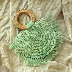 Vegan Atta Warrior Raffia Fringes Half Moon Straw Clutch Bag - in Mint – BrunnaCo Audry Rose, Lipstick Holder, Fringe Bags, Summer Bags, Sleep Mask, Queen Bees, Fringes, Clutch Bag, Straw Bag