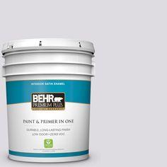 BEHR Premium Plus 5-gal. #N100-1 Enigma Satin Enamel Interior Paint