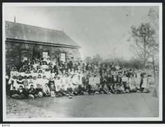 The students and staff of the Lutheran School Petersburg South Australia c. 1890s