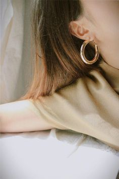 1fae14378 Extra large and extra chunky gold hoop earrings. Vintage hoops. Haru Hoops  by TheHexad