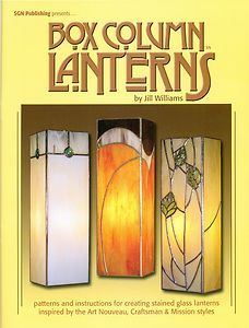 Box Column Lanterns Stained Glass Pattern Book, Books, Lights, Lamps