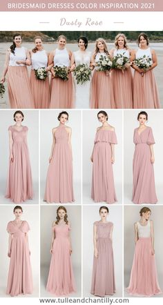 Wedding color inspiration with dusty rose mismatched bridesmaid dresses from tulleandchantilly Photography @kimberleykufaasphotography Mismatched Bridesmaid Dresses, Brides And Bridesmaids, Color Inspiration, Wedding Inspiration, Wedding Ideas, Long Shorts, Dusty Rose, Wedding Colors, Wedding Photos