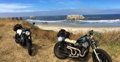 Custom Harley Sportster and Triumph Bonneville. Story of our motorcycle trip from Vancouver down the Pacific Coast Highway California Coast, Oregon Coast, Northern California, Highway 1, Pacific Coast Highway, Motorcycle Travel, Custom Harleys, Triumph Bonneville, Vancouver