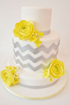 Chevron birthday cake for Kylie's first birthday?!? we love chevron print! :)