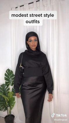 Modest Outfits Muslim, Modest Fashion Hijab, Modern Hijab Fashion, Street Hijab Fashion, Hijab Fashion Inspiration, Muslim Fashion, Abaya Fashion, Fashion Outfits, Streetwear Fashion