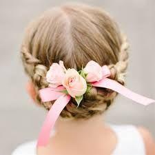 Resultado de imagen para flower girl hairstyles with braids and curls