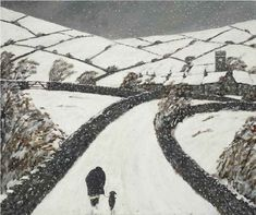 Gary Bunt | (07) Through Winter Snow I always like to think they are walking home to eat soup and warm their toes by the fire.