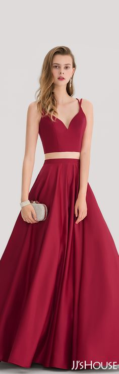 Ball-Gown Sweetheart Floor-Length Satin Prom Dress#JJsHouse #Prom dresses