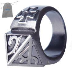 BINGUO® Practical Punk Wave Self Defense Ring Women Men Finger Ring Window  Breaker Emergency Equipment b7d669aaf3