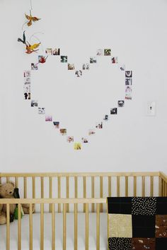 DIY Instagram picture heart display (click through for tutorial!)