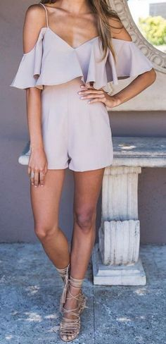 #summer #outfits / romper