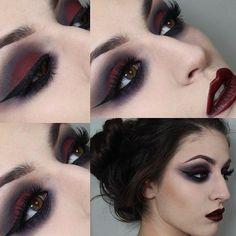 Makeup 101, Dark Makeup, Blue Makeup, Makeup Inspo, Makeup Inspiration, Beauty Makeup, Makeup Ideas, Natural Makeup, Gothic Eye Makeup