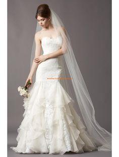 Watters Romantische Süße Liebste Brautkleider aus Organza mit Applikation