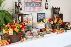 Boteco Jack Daniels, Flamingo Party, Dessert Buffet, Flower Fashion, Just Married, Party Time, Table Settings, Blog, Table Decorations