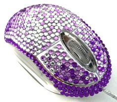 Sparkly purple mouse
