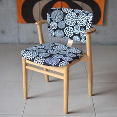 【アンティーク】アルテックドムスチェア×マリメッコ《ビンテージvintageヴィンテージ》【artekDomuschairmarimekkoイス椅子チェアーアドキッチン】