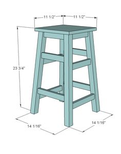 Simplest Stool - make the legs any size you need for the space...