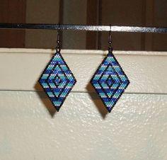 Saphire Turquoise Light Blue Diamond Beaded by TheCraftyCuban, $25.00