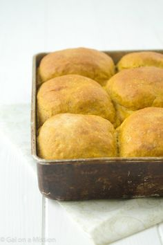 Melt-in-your-mouth pumpkin spice dinner rolls that can be made anytime of the year! Perfect any holiday meals - Thanksgiving, Christmas, Easter, etc!