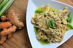 Slow Cooker Coconut Turmeric Chicken - Happy Healthnut