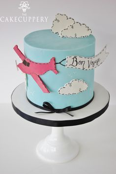 Bon Voyage Cake by The Cake Cuppery - For all your cake decorating supplies, please visit craftcompany.co.uk