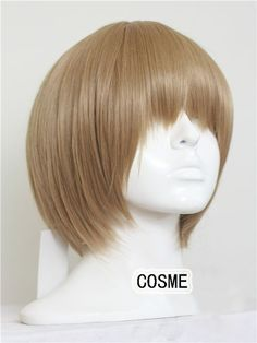 Gintama Okita Sougo blonde light brown 12inches short cosplay wigs universal lace front  anime wig + wig cap free shipping