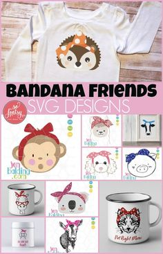 Bandana Friends SVG Design | 100 % Commercial Use | So Fontsy