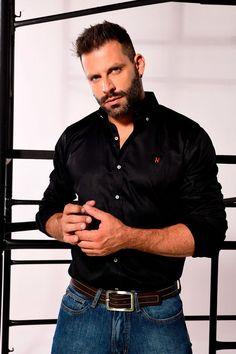 Henri Castelli, Hot Hunks, Mens Suits, Polo Ralph Lauren, Button Down Shirt, Men Casual, Guys, Mens Tops, Shirts