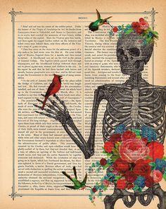Love Blossoms SKELETON Art Print