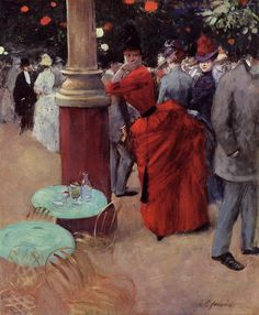 fleurdulys: The Public Garden - Jean-Louis Forain ~1884 Aline for Art