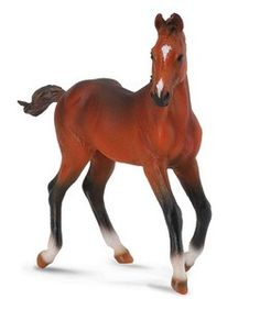 CollectA Quarter Horse Foal Bay - CollectA Quarter Horse Foal Bay Horse Toys, Model, gifts, equine, equestrain, plastic, collectible, girls, kids, figurines, www.HorseToysSuperstore.com
