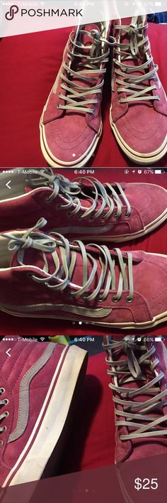 Pink vans They are dirty, but good condition Shoes Athletic Shoes